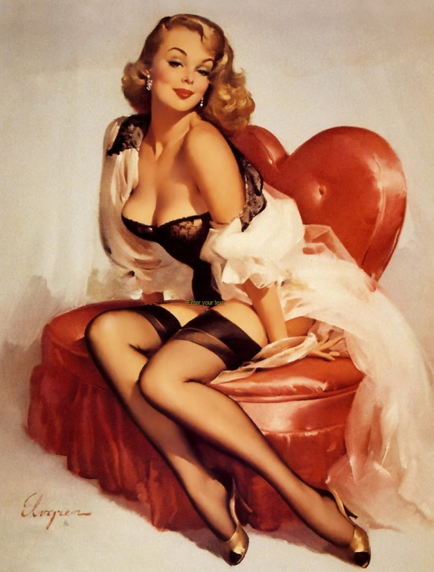 Classic 1950's Pinup by Gil Elvgren